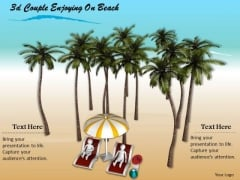 Corporate Business Strategy 3d Couple Enjoying On Beach Character Modeling