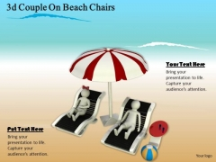 Corporate Business Strategy 3d Couple On Beach Chairs Character Modeling