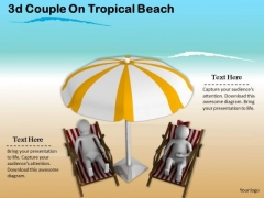Corporate Business Strategy 3d Couple On Tropical Beach Character Modeling
