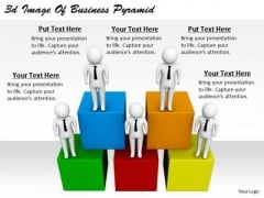 Corporate Business Strategy 3d Image Of Pyramid Characters