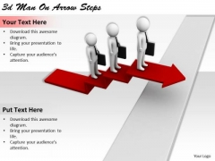 Corporate Business Strategy 3d Man On Arrow Steps Concept Statement