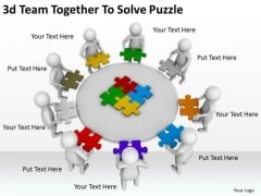 Corporate Business Strategy 3d Team Together Solve Puzzle Character Modeling