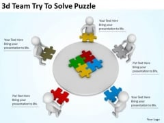 Corporate Business Strategy 3d Team Try To Solve Puzzle Character Modeling