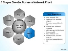 Corporate Business Strategy 6 Stages Circular Network Chart Plan