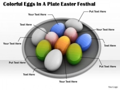 Corporate Business Strategy Colorful Eggs Plate Easter Festival Pictures