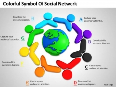Corporate Business Strategy Colorful Symbol Of Social Network Pictures