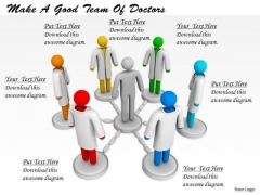 Corporate Business Strategy Make Good Team Of Doctors 3d Character