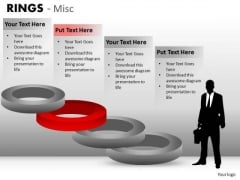 Corporate Leadership Stairs Rings PowerPoint Slides And Editable Ppt Templates