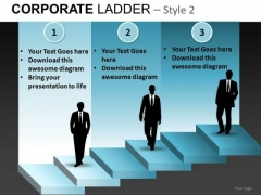 Corporate Steps Stairs PowerPoint Ppt Templates