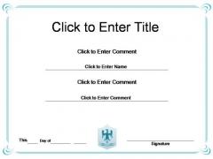 Corporate Success Certificate PowerPoint Templates