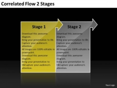 Correlated Flow 2 Stages Ppt Hydraulic Schematic PowerPoint Slides