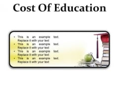 Cost Of Education Money PowerPoint Presentation Slides R