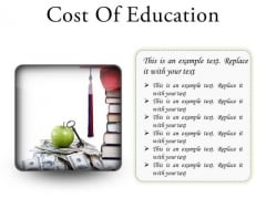 Cost Of Education Money PowerPoint Presentation Slides S