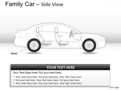 Costly Blue Family Car Side View PowerPoint Slides And Ppt Diagram Templates