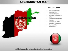 Country PowerPoint Maps Afghanistan