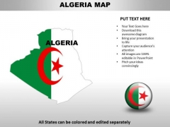 Country PowerPoint Maps Algeria
