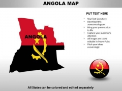 Country PowerPoint Maps Angola