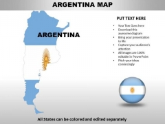 Country PowerPoint Maps Argentina