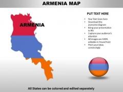 Country PowerPoint Maps Armenia