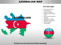 Country PowerPoint Maps Azerbaijan
