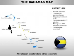 Country PowerPoint Maps Bahamas
