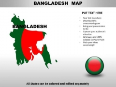 Country PowerPoint Maps Bangladesh