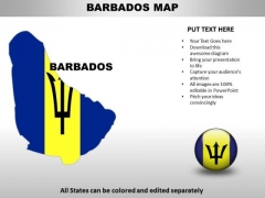 Country PowerPoint Maps Barbados