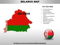 Country PowerPoint Maps Belarus