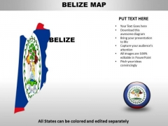 Country PowerPoint Maps Belize