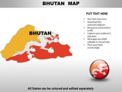 Country PowerPoint Maps Bhutan