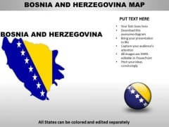 Country PowerPoint Maps Bosnia