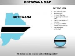 Country PowerPoint Maps Botswana