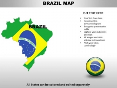 Country PowerPoint Maps Brazil