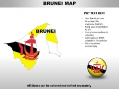 Country PowerPoint Maps Brunei