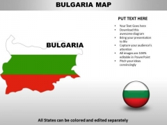 Country PowerPoint Maps Bulgaria