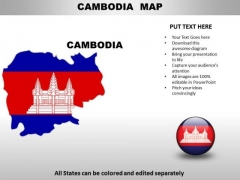 Country PowerPoint Maps Camodia