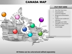 Country PowerPoint Maps Canada