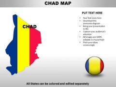 Country PowerPoint Maps Chad