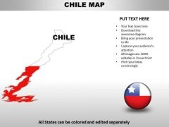 Country PowerPoint Maps Chile