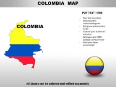 Country PowerPoint Maps Colomiba