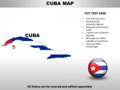 Country PowerPoint Maps Cuba