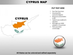 Country PowerPoint Maps Cyprus