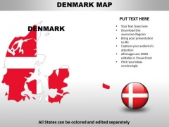 Country PowerPoint Maps Denmark