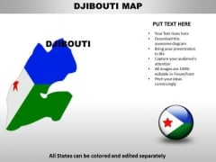 Country PowerPoint Maps Djibouti