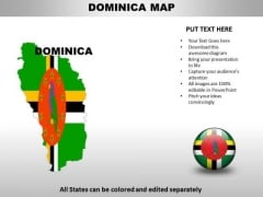 Country PowerPoint Maps Dominica