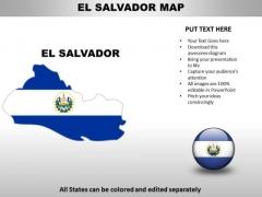 Country PowerPoint Maps El Salvador
