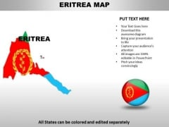 Country PowerPoint Maps Eritrea