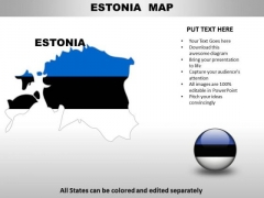 Country PowerPoint Maps Estonia