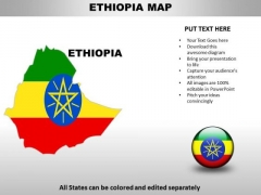 Country PowerPoint Maps Ethiopia