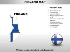 Country PowerPoint Maps Finland